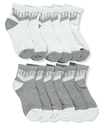 Diesel Kids Boys Clothing (Diesel Boys' 6-Pack Crew Socks - white/gray, 9-11/7-14 years)