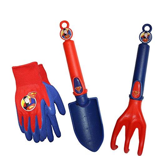 Midwest Quality Gloves SFSP16P06-EA-AZ-6 DC Comics Super Friends Super Man Combo Pack, Toddler, Multicolor