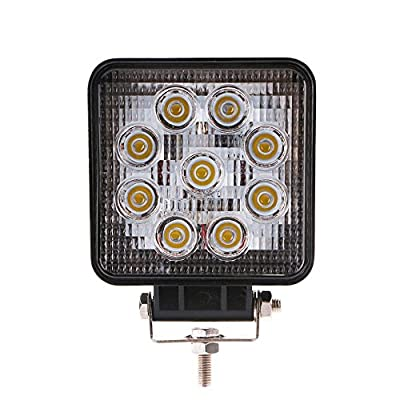 Handxen 27W LED Flood Beam Work Light with High Power LED Chips for ATV Jeep Boat SUV Truck Fishing Deck with Stands: Automotive