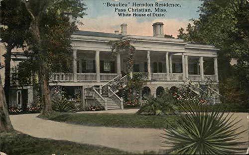 Beaulieu Herndon Residence Pass Christian, Mississippi MS Original Vintage Postcard
