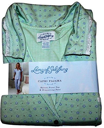 Lanz of Salzburg Women's XXL Knit Capri Pajamas (Mint Gre...