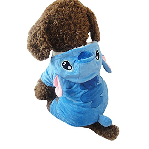 Jumba Jookiba Costume (Vvhome Disney Stitch Cartoon Pet Custume Coat for Small Medium Large Dogs (XL))