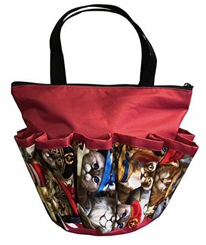 10 Pocket ''Cats with Hats'' Zipper Bingo Bag