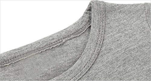 Carino camicetta superiori ragazze lunghe di parti delle stampa magliette 7years dei autunno ragazzo Abbigliamento Lettera del Dinosaur Nuovo delle casual Adeshop vestiti Grey maniche bambino delle 2 bambini Moda di Ax1BBvq4