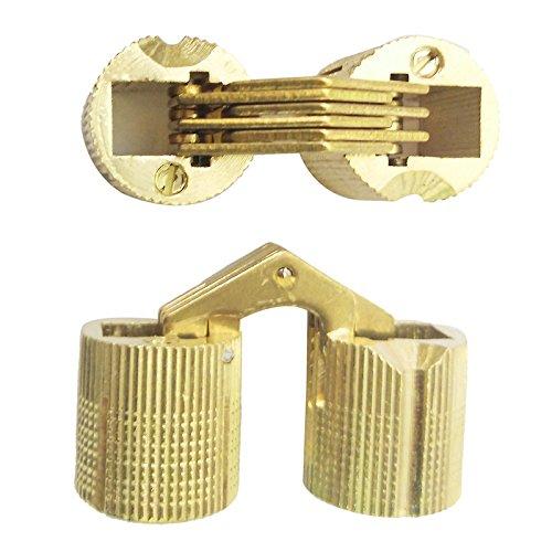 Portes 8//10//12//14//16mm en Option pour Meubles,Cabinet,Coiffeuse,Coffrets Cadeaux 4PCS Encastr/é en Cuivre Charni/ère Cylindrique,180/° /à Amorti armoires