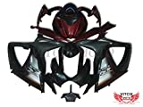 VITCIK (Fairing Kits Fit for Suzuki GSX-R750 GSX-R600 K6 2006 2007 GSXR 600 750 K6 06 07) Plastic ABS Injection Mold Complete Motorcycle Body Aftermarket Bodywork Frame (Black & Red) A059