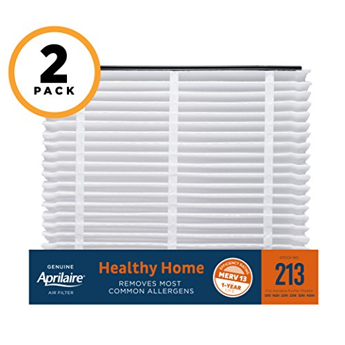 Aprilaire 213 Healthy Home Air Filter for Aprilaire Whole-Home Air Purifiers, MERV 13, for Most Common Allergens (Pack of (2200 Appliance)