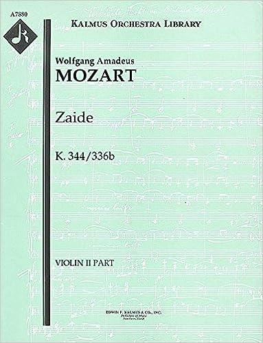 Téléchargement gratuit d'ebook de base de données Zaide, K.344/336b: Violin II part [A7880] (Littérature Française) PDF iBook