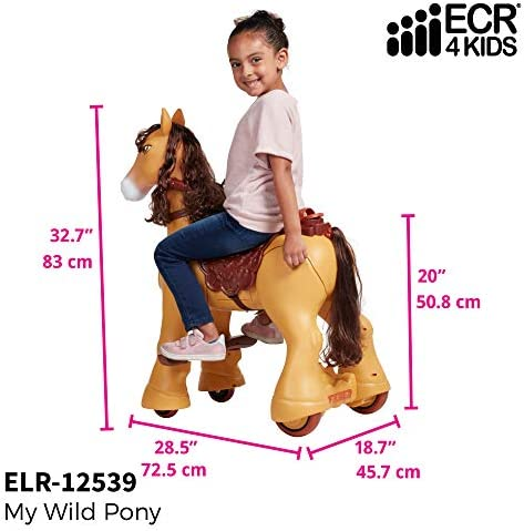 Amazon.com: ECR4Kids My Wild Pony, caballo motorizado para ...