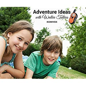 Walkie Talkies for Kids,Outdoor Kids Camping Easter Gifts for 5 6 7 8 9 Year Old Kids,Top Rated Kids Gifts of Spy Kits,Kids Camping Hiking,Camping Fishing 10 Top Toys for Boys Girls UP to 5KM Range