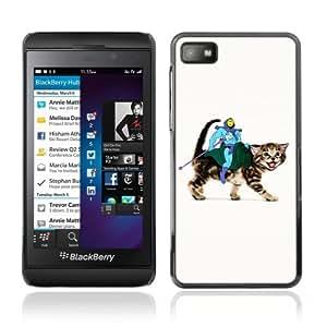 YOYOSHOP [Funny Skeletor Riding A Cat] Blackberry Z10 Case
