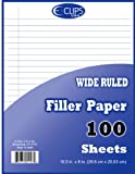 Quadruled Filler Paper - 100 sheets- 10.5'' x 8'' Case Pack 48
