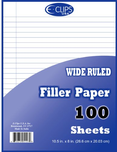DDI - Filler Paper - WR - 100 sheets - 10.5'' x 8'' (1 pack of 60 items) by DDI