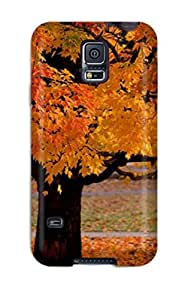 Hot Tpu Cover Case For Galaxy/ S5 Case Cover Skin - Galaxy S Live Autumn