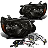 Toyota Tacoma 2nd Gen Pair of Smoke Amber Corner Headlight+4,300K H4 HIDs+Thick Ballasts