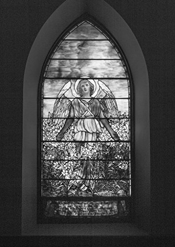 (24 x 36 B&W Giclee Print The Loring Window, a Stained-Glass Window at St. Matthew's Episcopal Church in Wheeling, West Virginia 2015 Highsmith 02a)