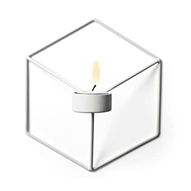 LtrottedJ Nordic Style 3D Geometric Candlestick Metal Wall Candle Holder Sconce Home Decor (B)