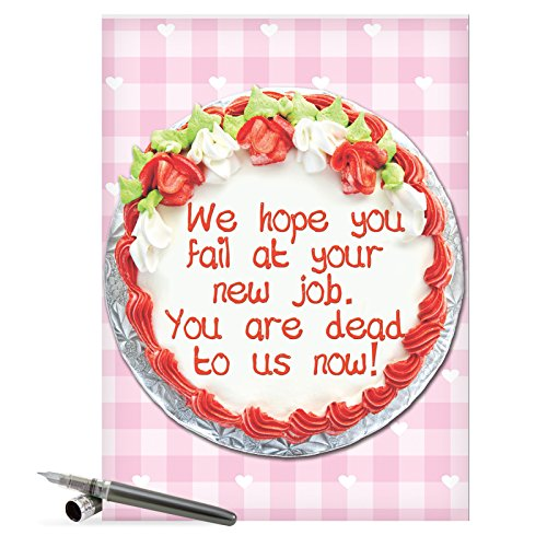 J9812 Jumbo Funny Congratulations Card - 'Fail At Job Congratulations' with Envelope, Extra Large Size: 8.5'' x 11''