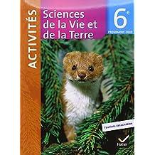 Sciences de la vie et de la terre 6ème fichier activités