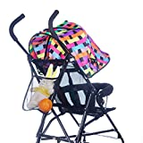 Tonsee Baby Kids Stroller Hanging Bags Accessories Bottle Diaper Net Bag Black
