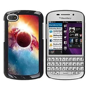 Paccase / SLIM PC / Aliminium Casa Carcasa Funda Case Cover para - Beautiful Planet & Sun - BlackBerry Q10