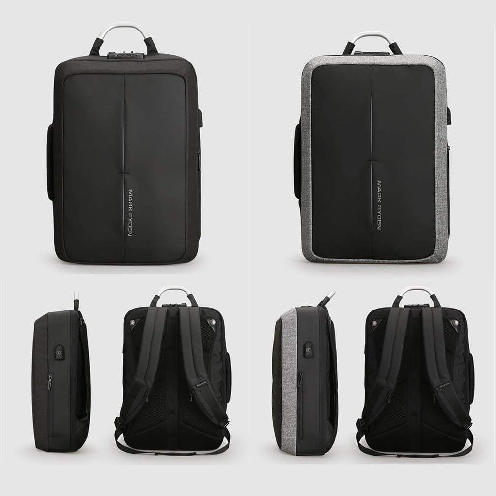 JD/_W Laptop Backpack Business Travel Bags with USB Charging Port School Travel Pack Fits Under 15.6 Inch Laptop