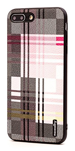 - iPhone 7 Plus Case, iPhone 8 Plus (5.5 inch) Case, Maxessory Pink Tartan Ultra-Slim Luxury Premium Full-Body Hard Plaid Pattern Protective Full Body Shell Brush Texture Armor Cover