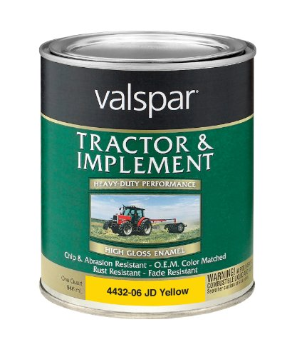 Valspar 4432-06 John Deere Yellow Tractor and Implement Paint - 1 Quart