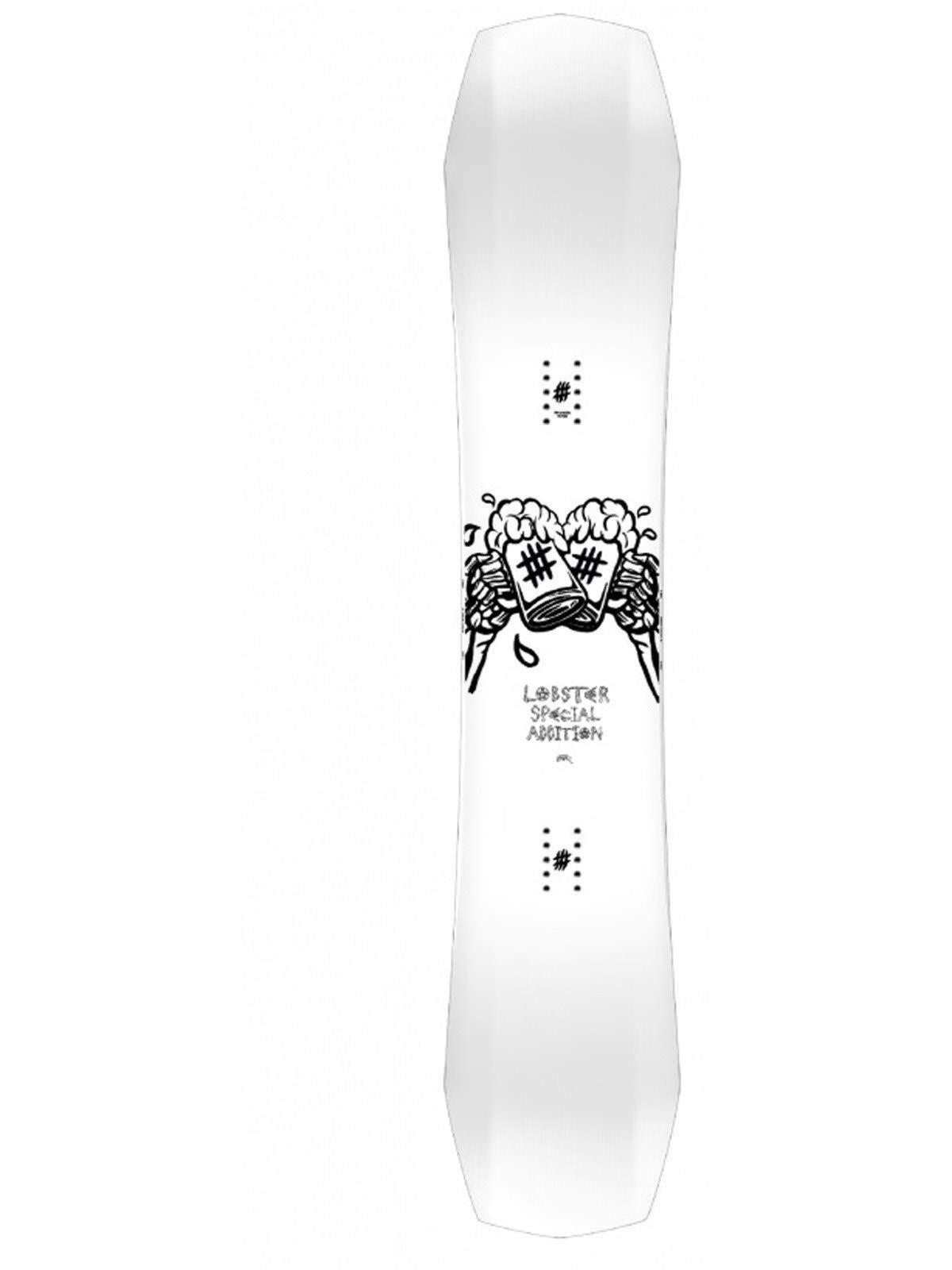Lobster White Black 2018 Artist Edition Schoph 154cm Snowboard