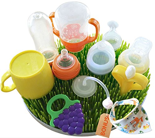 Large Bottle Drying Rack-1Pack Baby Bib included as Bonus -Baby Bottle Drying Rack (large)