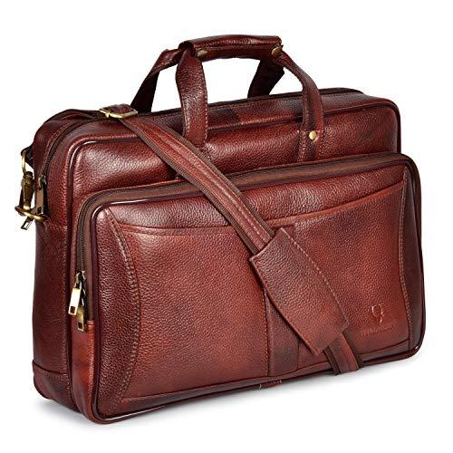 Leather Laptop Messenger Bag for Men