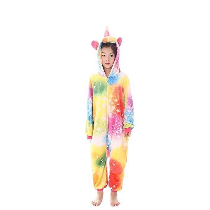 WYSMOL Unisex Niños Franela Pijamas de una Pieza Unicornio Ropa de Dormir Pijama Cosplay: Amazon.es: Ropa y accesorios