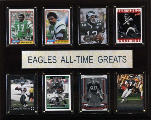 NFL Philadelphia Eagles All-Time Greats Plaque (Cards of players, designs, and names may vary)