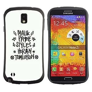 Suave TPU GEL Carcasa Funda Silicona Blando Estuche Caso de protección (para) Samsung Note 3 / CECELL Phone case / / white black god fashion text abstract /