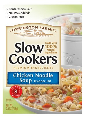 Orrington Farms Slow Cookers Chicken Noodle Soup, 2.5 Ounce (Pack of 12) by Orrington Farms