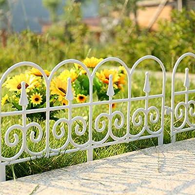YICO Bordes Jardín Flexible Frontera Valla Vintage - Borde de Valla Decorativa para Césped/Cantero (Blanco/Negro): Amazon.es: Hogar