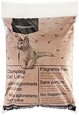 AmazonBasics Clumping Cat Litter, 40 lb Bag by AmazonBasics