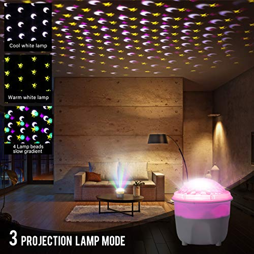Greatlizard Night Light Projector Indoor,360 Degree Rotating Projector Night Lamp with Timer Decoration for Christmas,Halloween,Birthday,Wedding Party