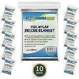 Primacare HB-10 Emergency Mylar Thermal Blanket (Pack of 10)