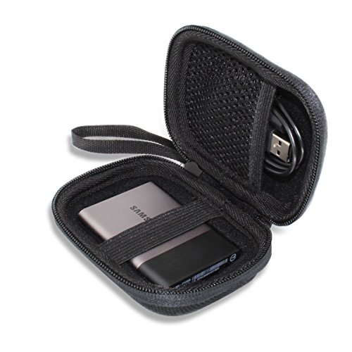 Hard Travel Case Bag for Samsung T5 T3 Portable 250GB 500GB 1TB 2TB SSD USB 3.0 External Solid State Drives by VIVENS