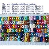 Maslin Merino Fiber Combed 100% Wool roving for neddle Felting DIY Make Doll and Animals Wool 50g 100g 200g 300g 500g 1000g - (Color: 1000g)