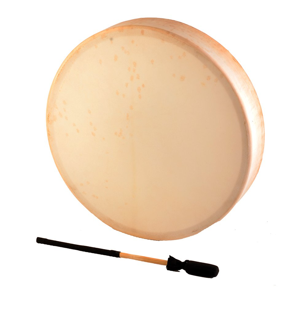 Deluxe First Nations Native Thunder Drum - 16 Round from World Drum Source Groove Masters Percussion H-16IND