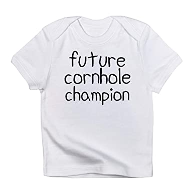 bffe86e06da1 CafePress Future Cornhole Champion Cute Infant T-Shirt, 100% Cotton Baby  Shirt Cloud