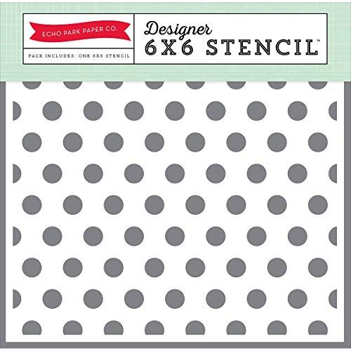 (Echo Park Paper Company Polka Dot #2 Stencil)