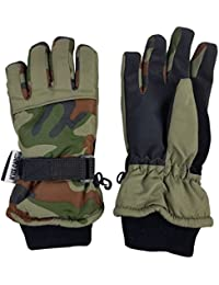Boys Cold Weather Camo Gloves Waterproof Insulated