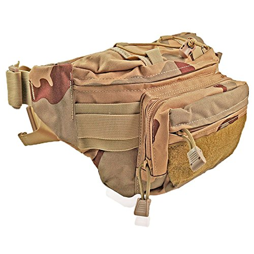 Waterproof 600D Oxford Waist Bag Tactical Molle EDC Outdoor Bag - 6