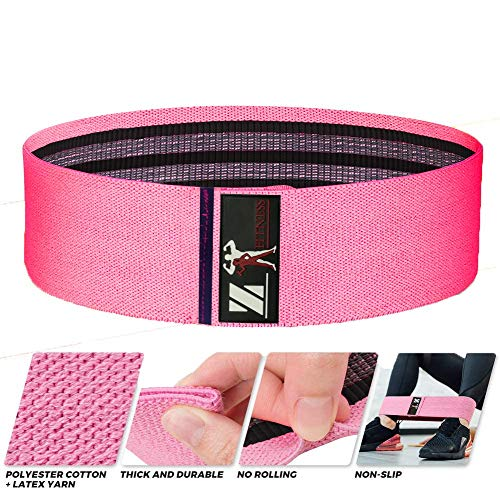 Resistance Bands for Legs and Butt, Workout Exercise Hip Bands, Fitness Booty Loop Non-Slip Bands for Squats, Deadlifts, Yoga, Sport, Pack of 3 (Black, firozi, Pink)
