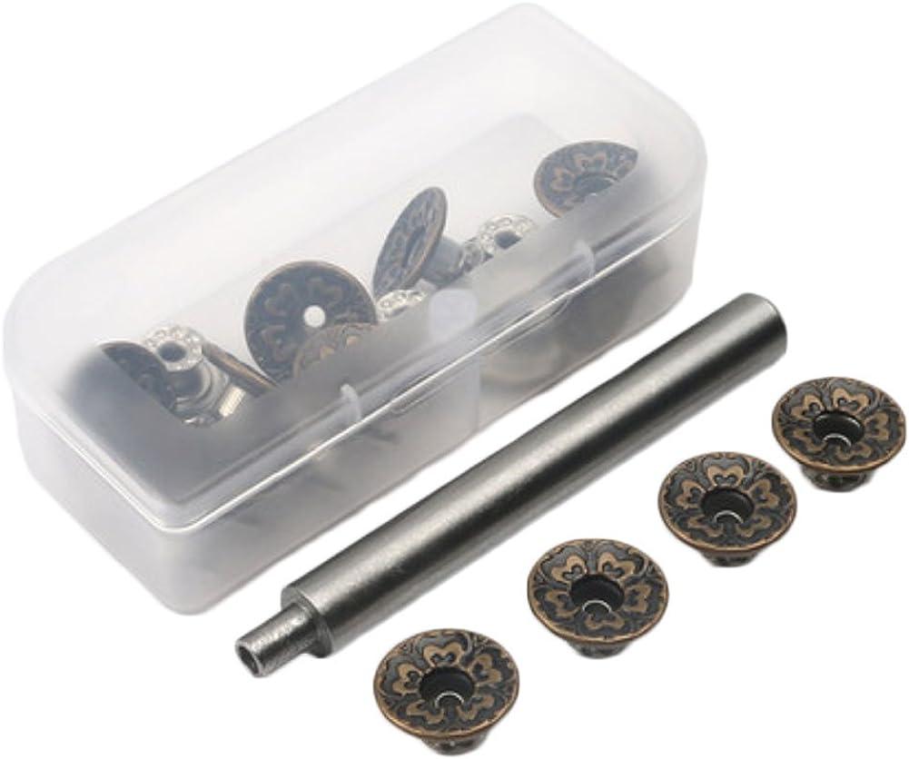 20Pcs Botones Jeans de Metal Botones Instant/áneos de Repuesto 17mm Botones de Ajuste Perfecto Extra/íbles Botones de Cintura Ajustables de Jean para A/ñadir o Reducir La Cintura de Pantal/ón en Segundos