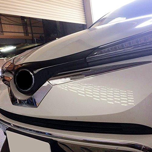 per C-HR CHR 2016-2019 Hybrid Acciaio INOX cromato griglia centrale anteriore Gird cover Trim