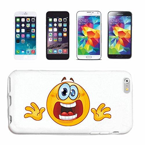 """cas de téléphone iPhone 7 """"Scared anxieux SMILEY """"SMILEYS SMILIES ANDROID IPHONE EMOTICONS IOS grin VISAGE EMOTICON APP"""" Hard Case Cover Téléphone Covers Smart Cover pour Apple iPhone en blanc"""